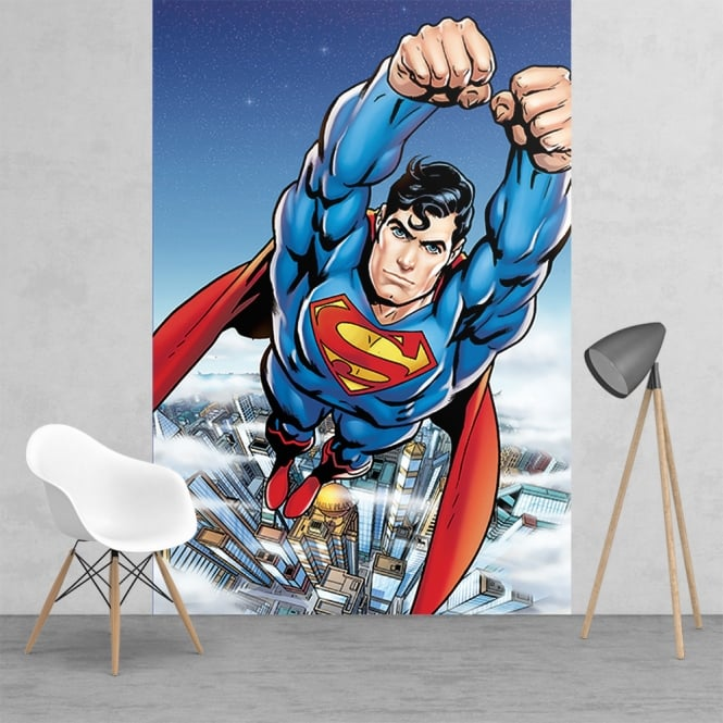 1Wall Action Superman Feature Wall Wallpaper Mural | 158cm x 232cm