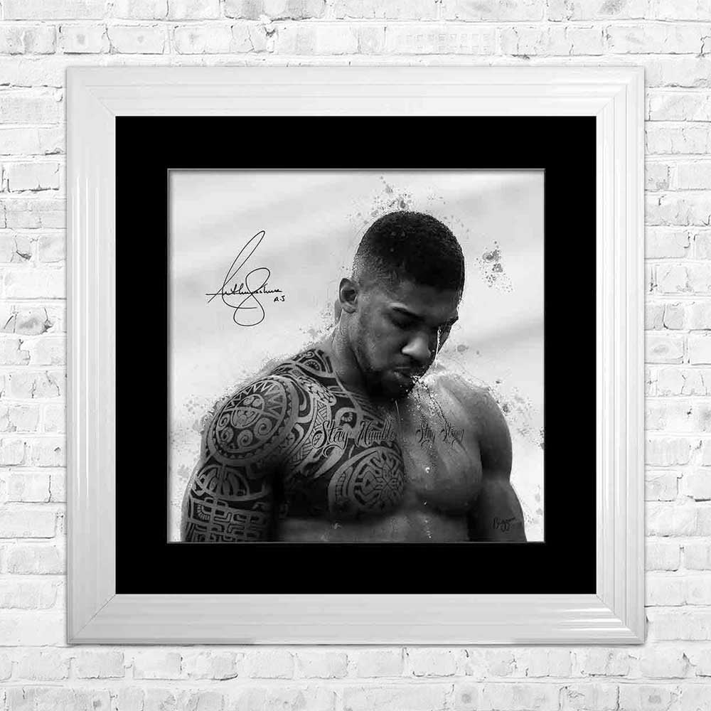 """AJ MAORI TATTOO"" AUTHENTIC SIGNED ANTHONY JOSHUA FRAMED"