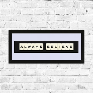 Always Believe Framed Playing Cards