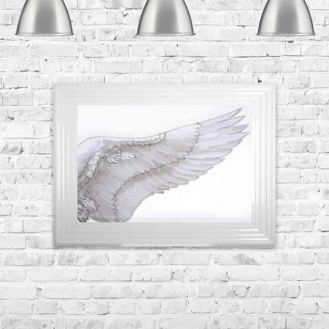 ANGEL WING RIGHT FRAMED WALL ART