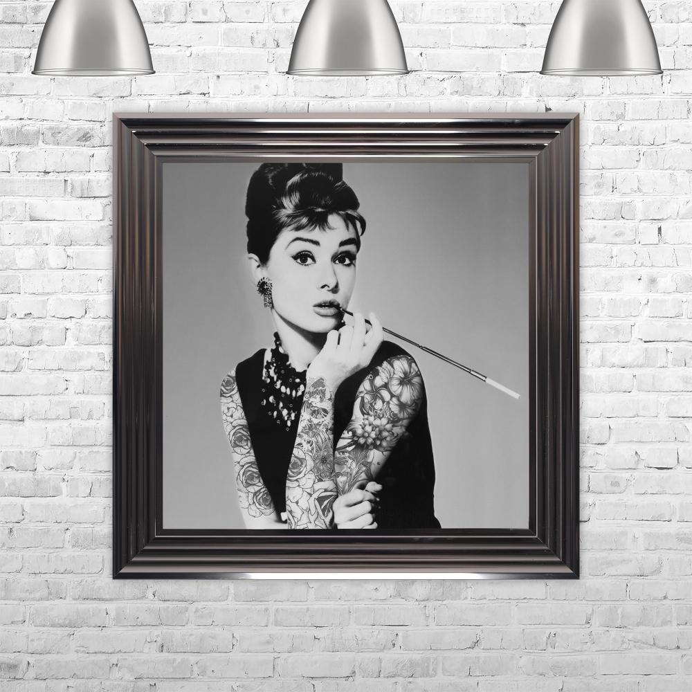 Biggon Audrey Hepburn Smoking Print Hand Made with Liquid Glass and ...