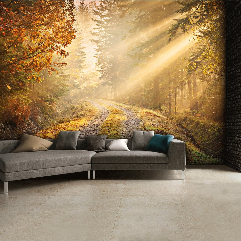 Autumn forest woodland wall mural 315cm x 232cm for Autumn forest wall mural