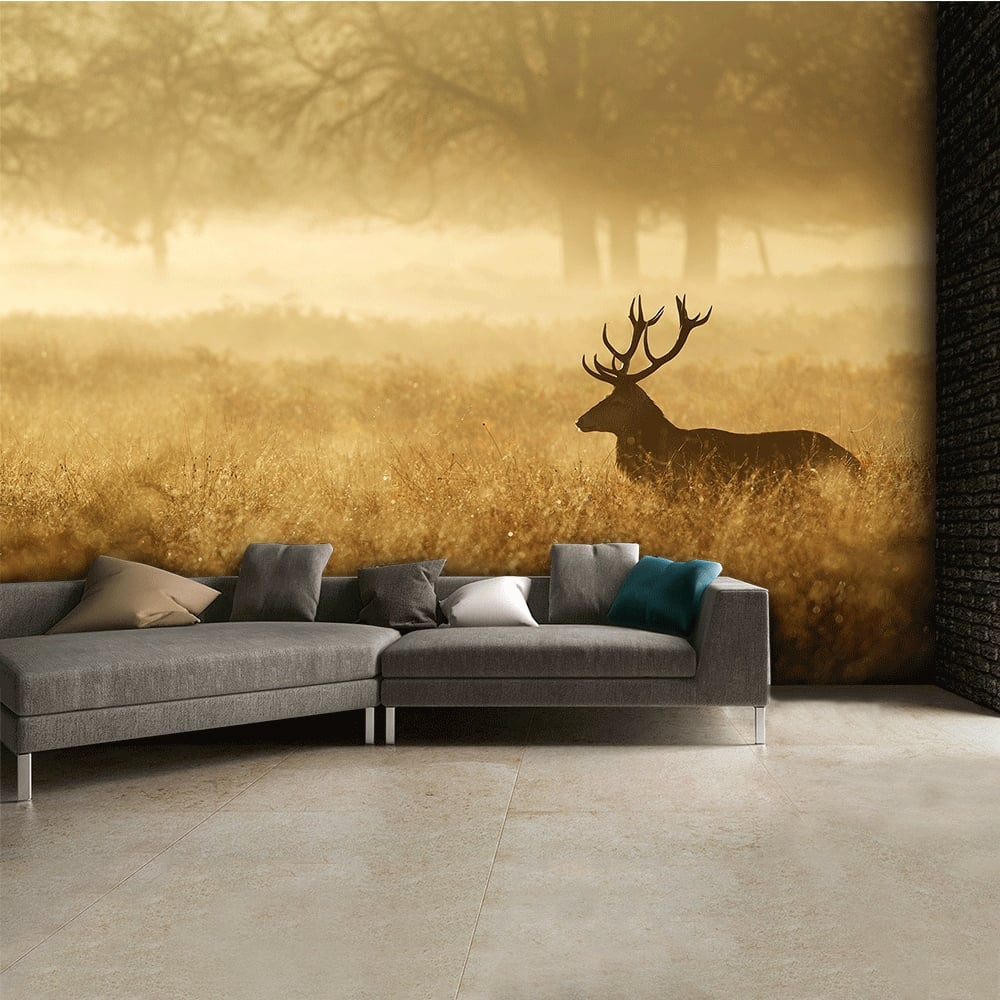 Autumn Stag Landscape Wall Mural | 315cm X 232cm Part 14