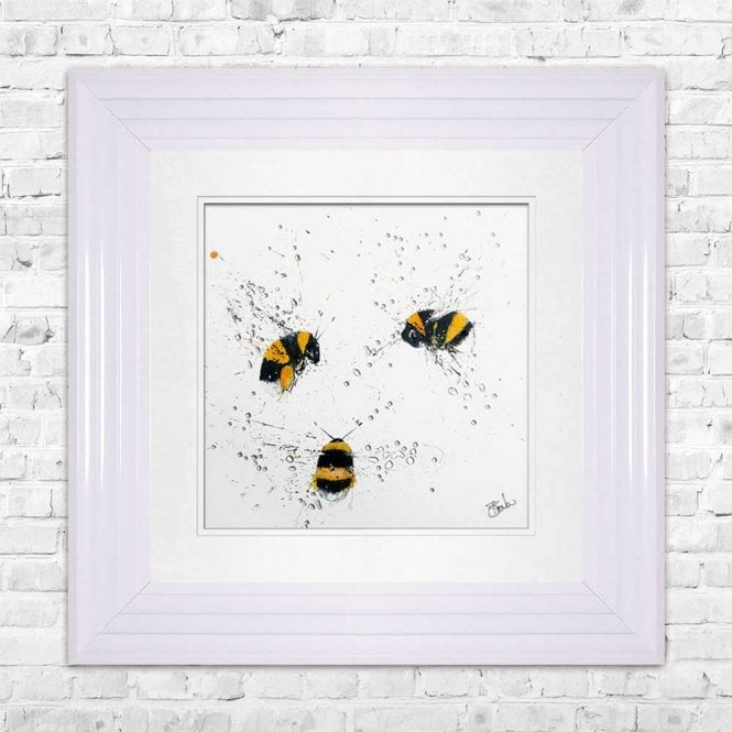 BEES - HAND PAINTED BEES FRAMED WALL ART