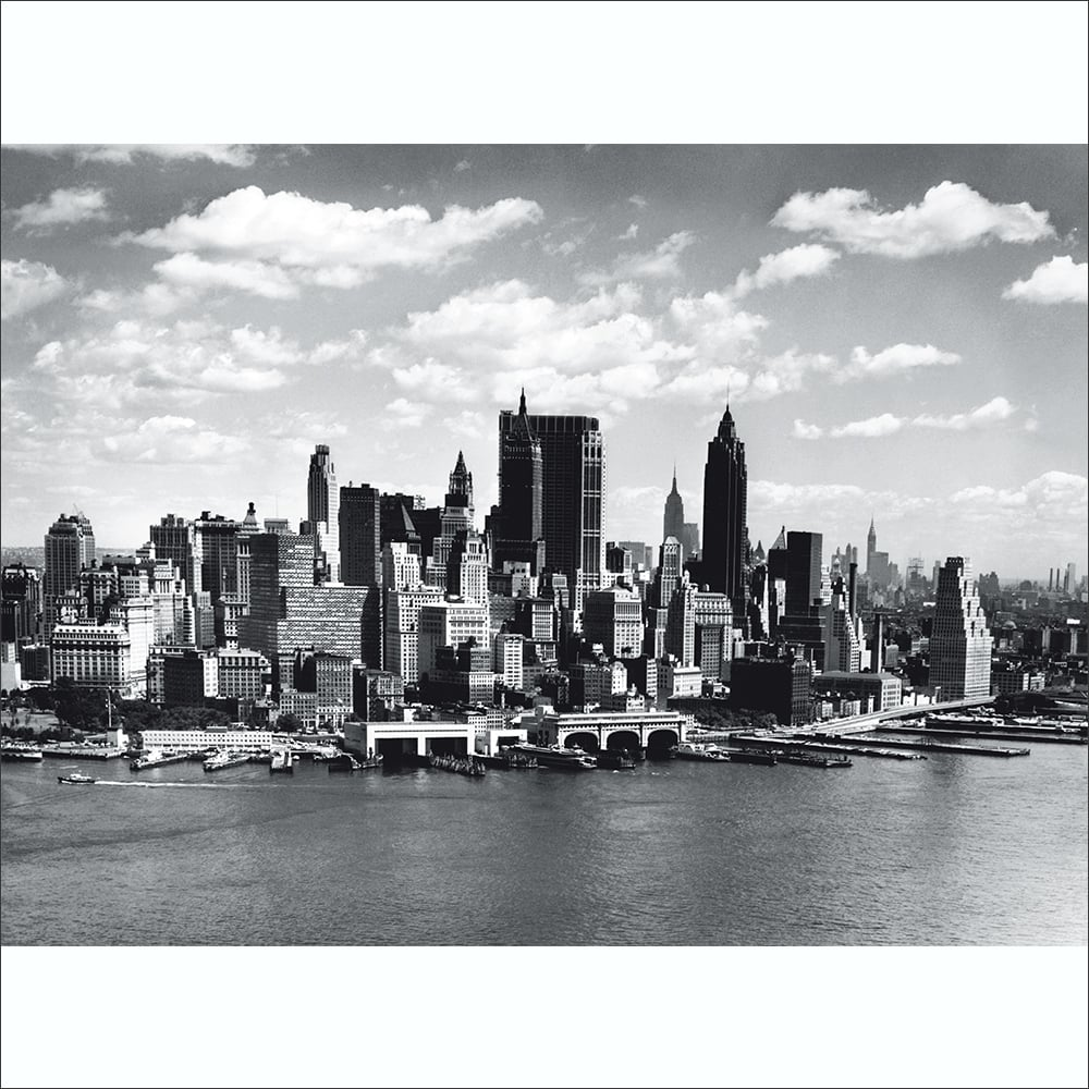 Black And White New York City Skyline Wall Mural 315cm X 232cm