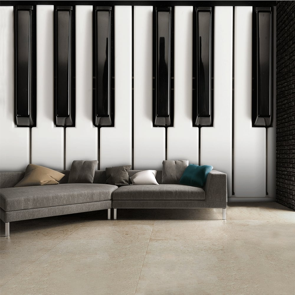 Superb Black And White Piano Keys Music Wall Mural | 315cm X 232cm Part 22