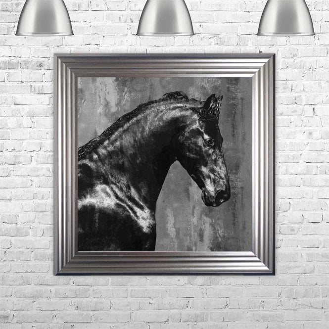 BLACK STALLION FRAMED WALL ART