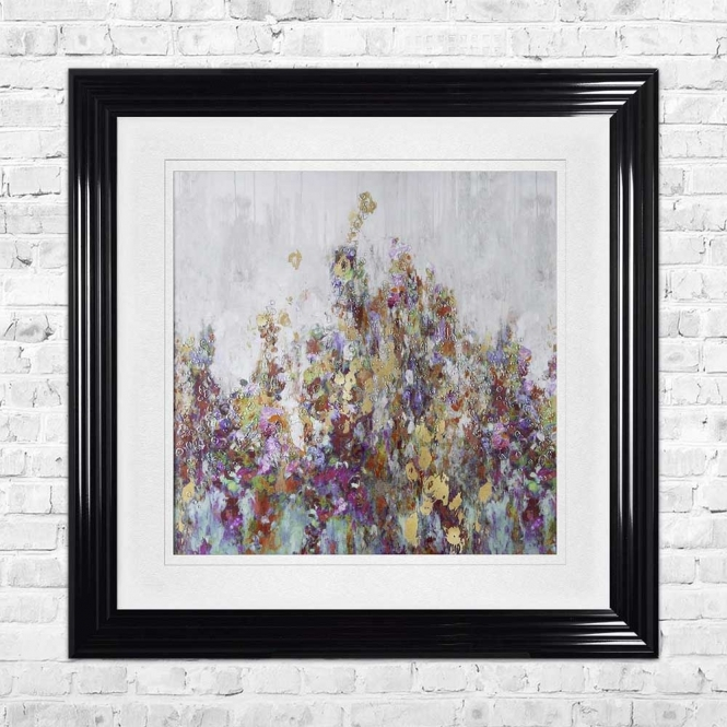BLOOMING BLOSSOM WHITE MOUNT FRAMED WALL ART
