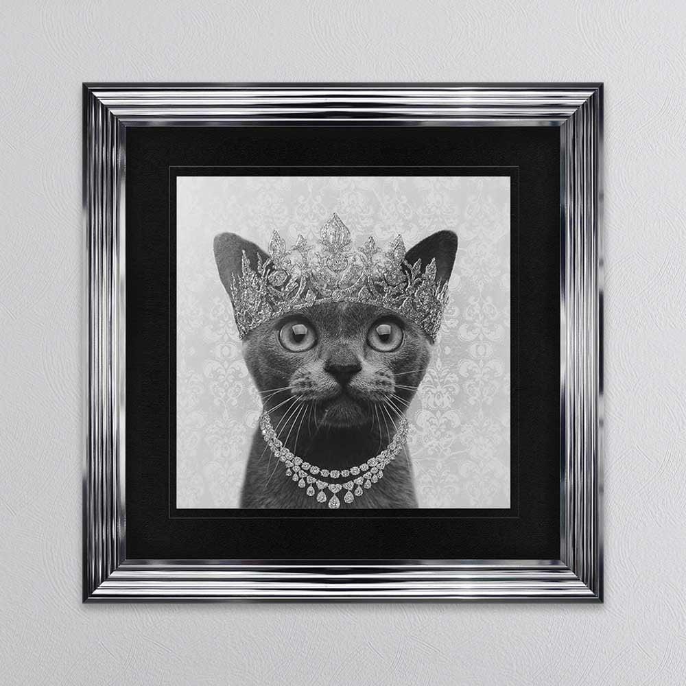 Shh Interiors Burmese Cat Wearing A Crown Framed Wall Art 1wall