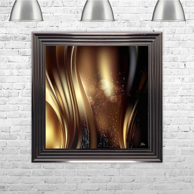 COPPER WAVE FRAMED WALL ART