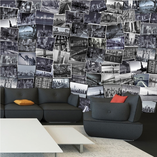 1Wall Creative Collage City 64 piece Wallpaper