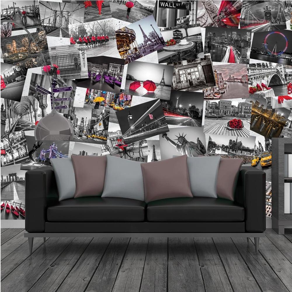 Wall murals creative collage cityscene 64 piece wallpaper amipublicfo Choice Image