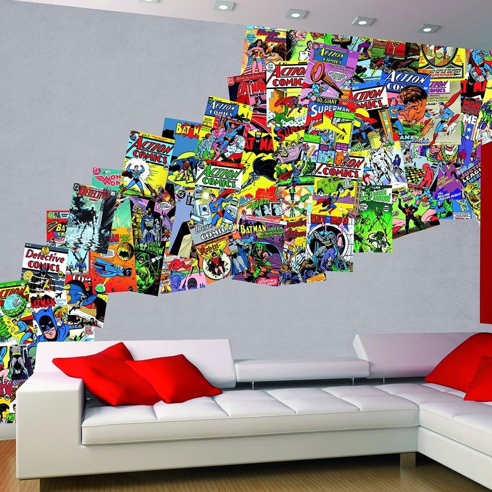 Free Comic Book Day Wallpaper: 1Wall Creative Collage Comics 64 Piece Wallpaper