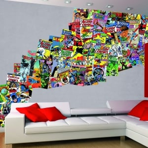 Creative Collage Comics 64 piece Wallpaper
