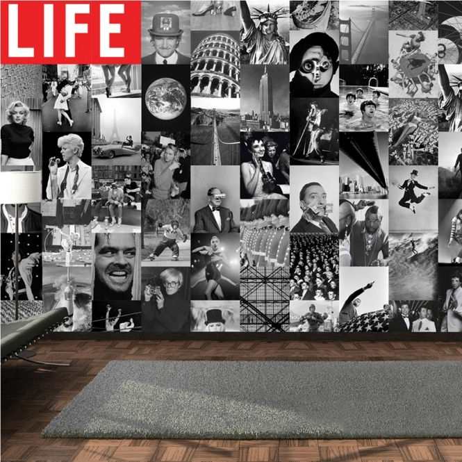 1Wall Creative Collage LIFE Icons 64 piece Wallpaper