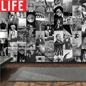 Creative Collage LIFE Icons 64 piece Wallpaper