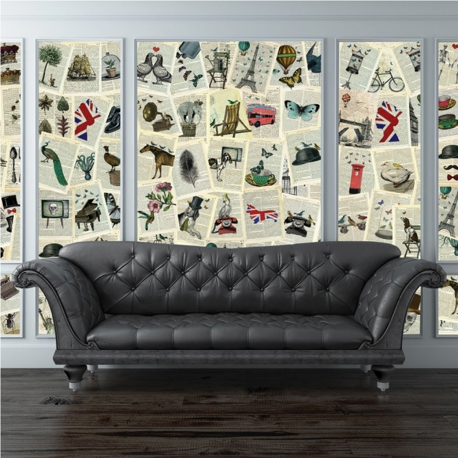 1Wall Creative Collage Pages 64 piece Wallpaper