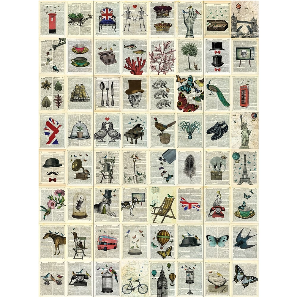 creative collage pages 64 piece wallpaper