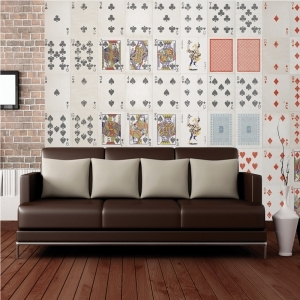 Creative Collage Playing Cards 64 piece Wallpaper