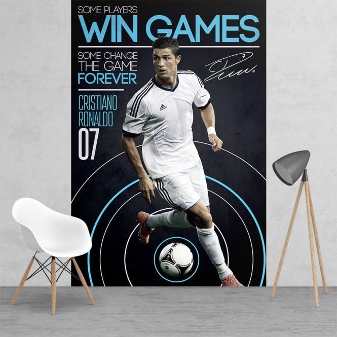 Cristiano Ronaldo Real Madrid Football Feature Wall
