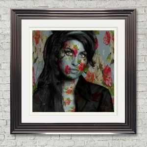 Dirty Hans Amy Winehouse Limited Edition Framed Artwork | 90cmx90cm | Limited Edition with Certificate