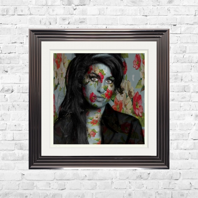 Dirty Hans AMY WINEHOUSE Limited Edition Framed Artwork