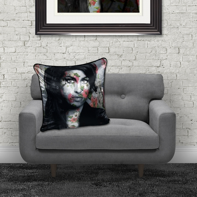 Dirty Hans Amy WinehouseLuxury Feather Filled Cushion | 55cm x 55cm