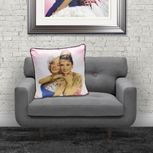 Dirty Hans Audrey Hepburn Marilyn Monroe Luxury Feather Filled Cushion | 55cm x 55cm