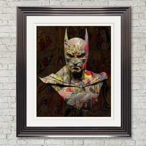 Dirty Hans Batman Limited Edition Framed Artwork | 90cmx100cm | Limited Edition with Certificate