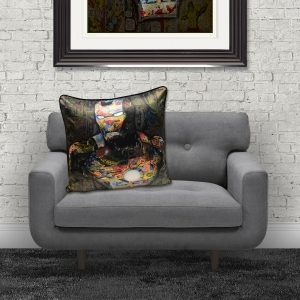 Dirty Hans Ironman Luxury Feather Filled Cushion | 55cm x 55cm