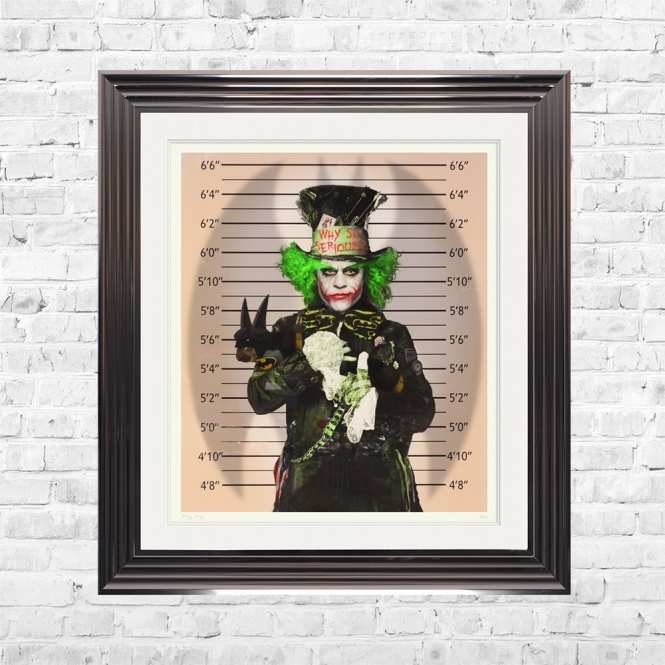 Dirty Hans JOKER MADNESS Limited Edition Framed Artwork