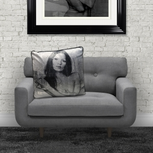 Dirty Hans 'Kate Moss 2' Luxury Feather Filled Cushion Red | 55cm x 55cm