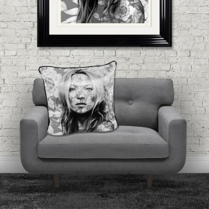 Dirty Hans Kate Moss Luxury Feather Filled Cushion | 55cm x 55cm