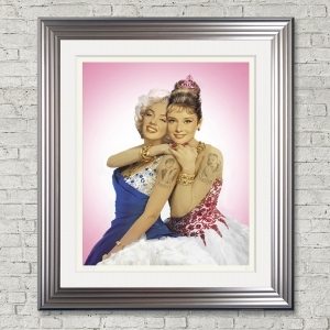 Dirty Hans Marilyn Audrey Limited Edition Framed Artwork | 90cmx100cm | Limited Edition with Certificate