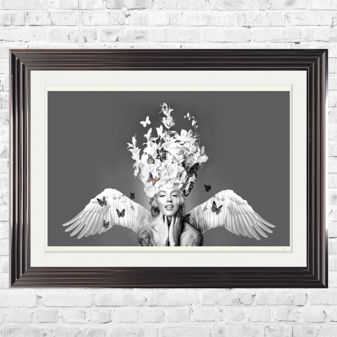 Dirty Hans MARILYN MONROE BUTTERFLY Limited Edition Framed Artwork