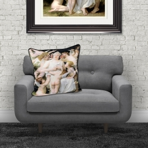 Dirty Hans Marylin Cherubs Luxury Feather Filled Cushion | 55cm x 55cm