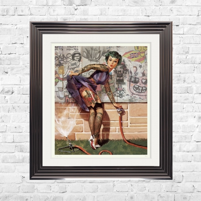 Dirty Hans PIN UP GIRL Limited Edition Framed Artwork