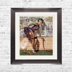 PIN UP GIRL Limited Edition Framed Artwork