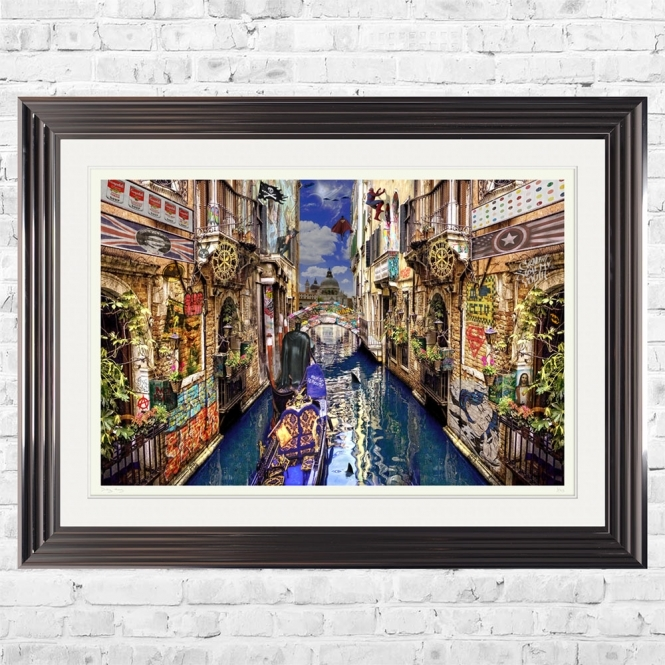 Dirty Hans POP GOES VENICE Limited Edition Framed Artwork