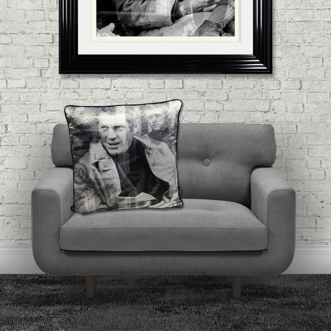 Dirty Hans Steve Mc Queen Feather Filled Cushion | 55cm x 55cm