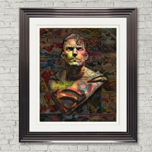 Dirty Hans Superman Limited Edition Framed Artwork | 90cmx100cm | Limited Edition with Certificate