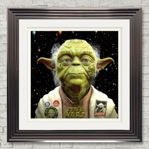 Dirty Hans Yoda Limited Edition Framed Artwork | 90cmx90cm | Limited Edition with Certificate