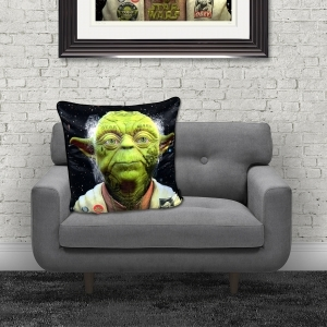 Dirty Hans Yoda Luxury Feather Filled Cushion | 55cm x 55cm
