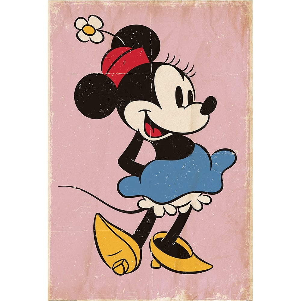 Elegant Disney Minnie Mouse Classic Vinatge Style Feature Wall Wallpaper Mural |  158cm X 232cm Part 16
