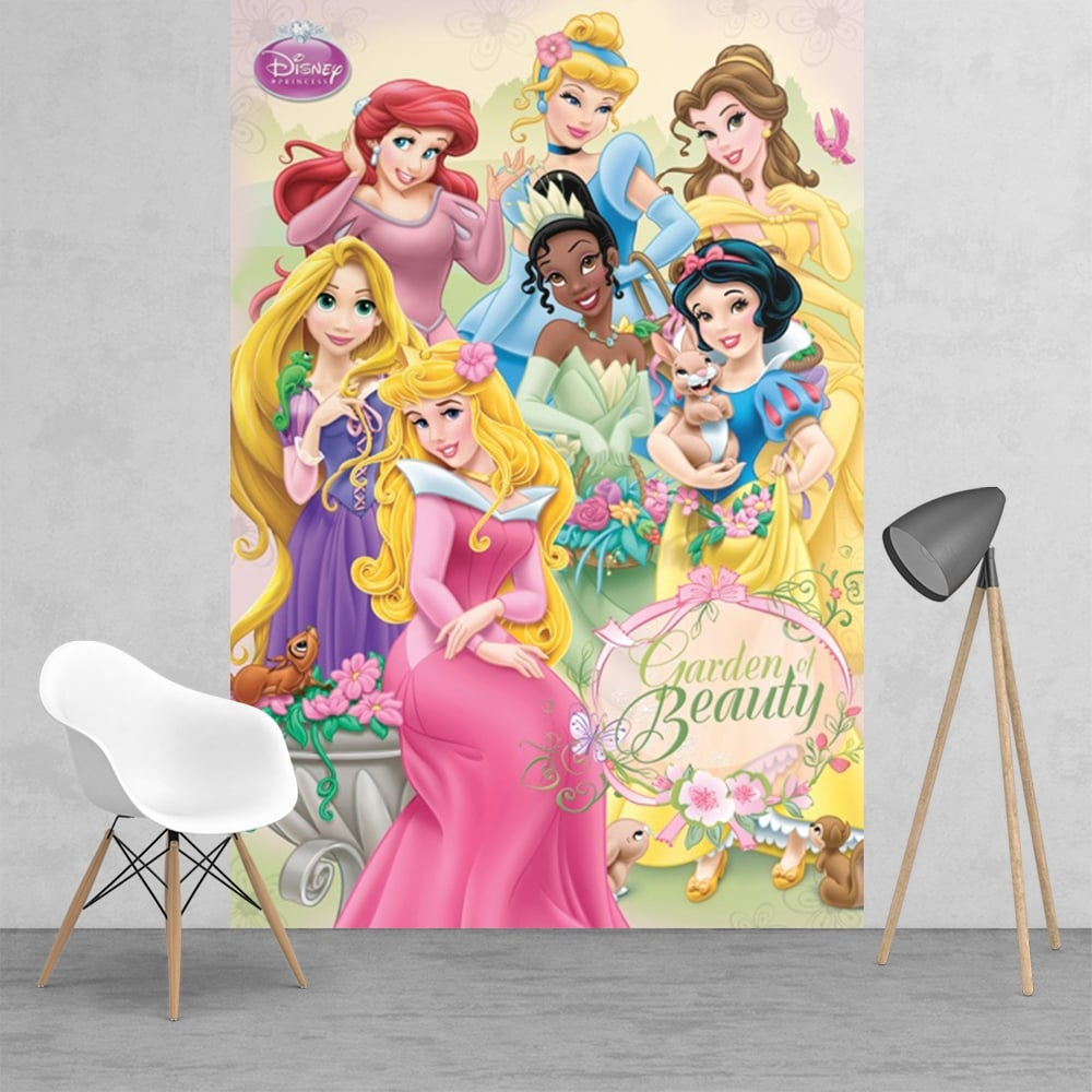 Disney princess ariel snow white bell sleeping beauty for Disney princess wallpaper mural uk