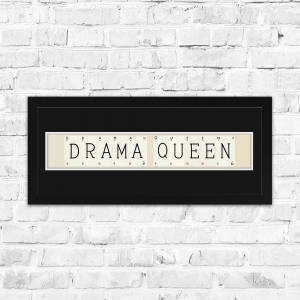 Drama Queen Framed Playing Cards