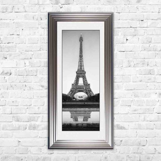 EIFFEL TOWER WHITE MOUNT FRAMED WALL ART