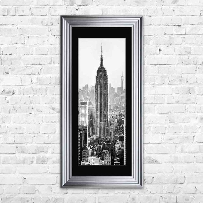 EMPIRE STATE BUILDING BLACK MOUNT FRAMED WALL ART