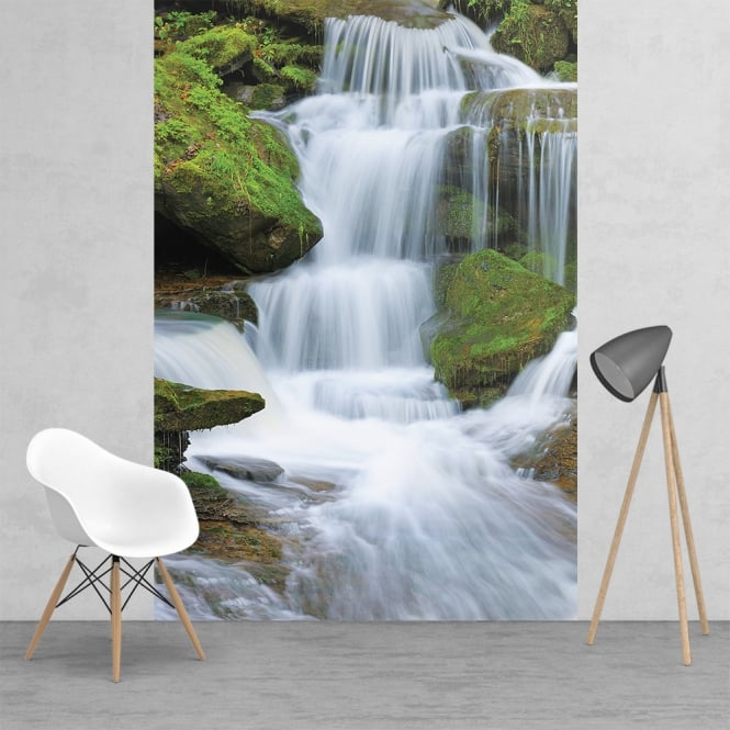 1Wall Feature Wall Waterfall Wallpaper Mural | 158cm x 232cm