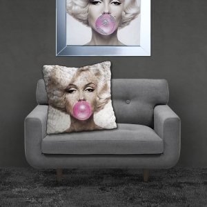Filled Crushed Velvet Cushion MARILYN GUM | 55cmx55cm